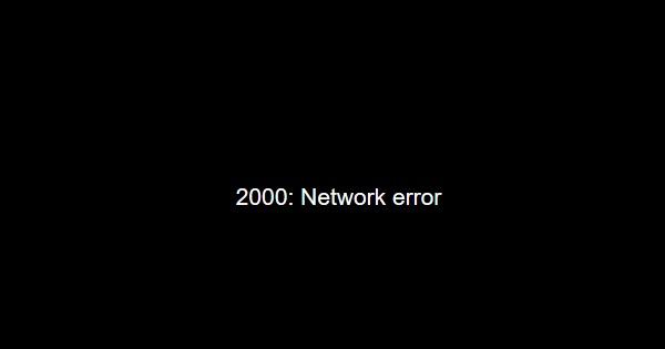 Ошибка 2000 error - черный экран