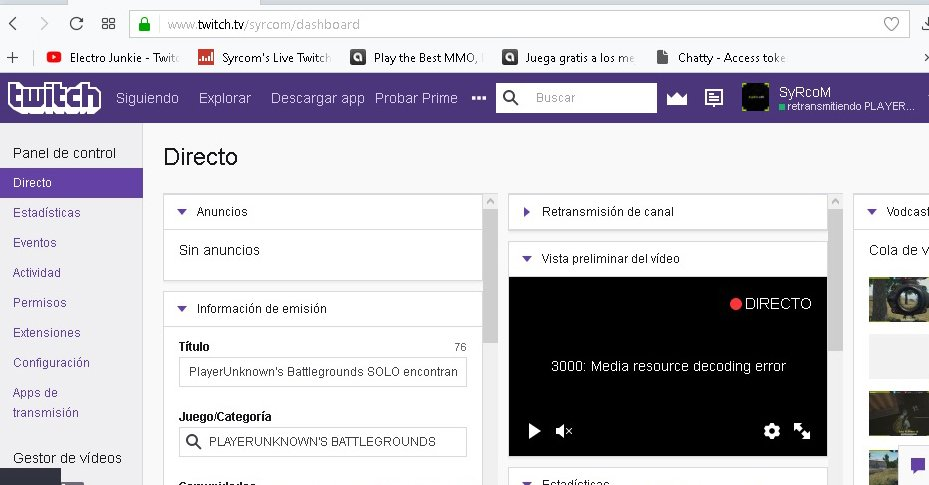 Ошибка 3000:media resource decoding error - одна из ошибок в Твиче